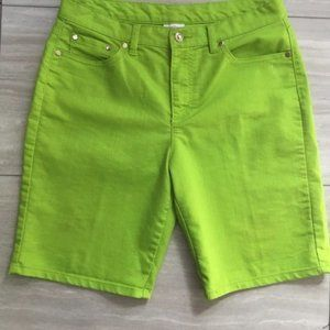 Jaclyn Smith Vintage High Rise Lime Green Shorts